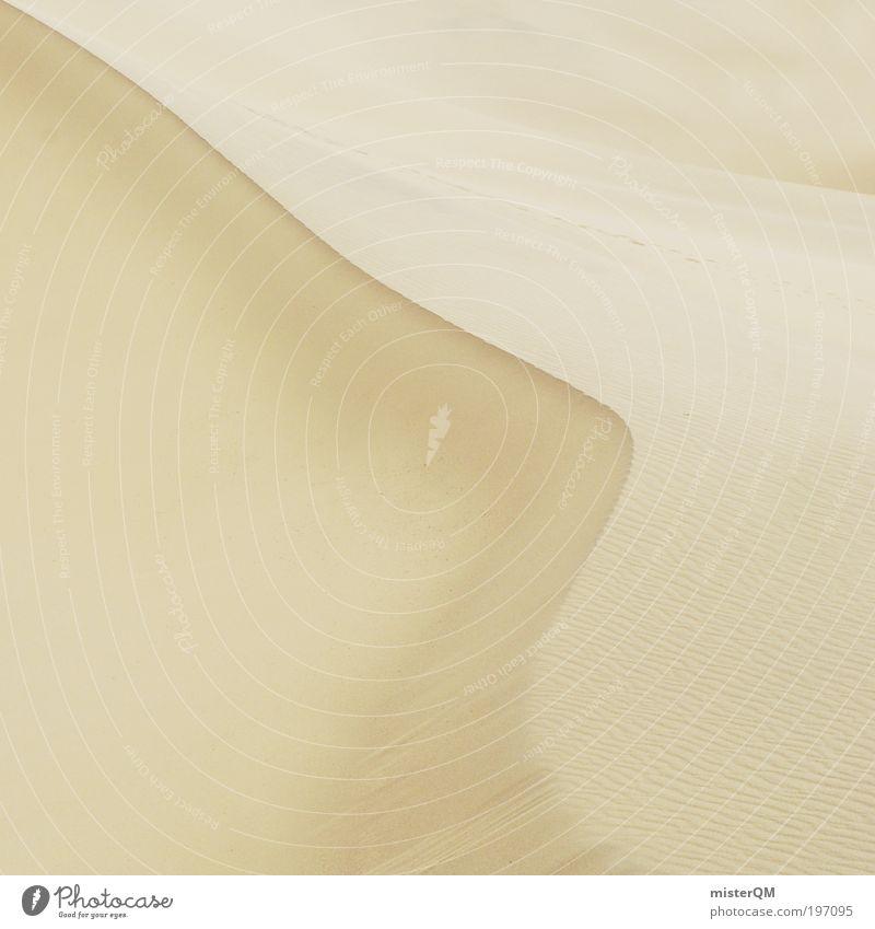 Desert Harmony. Sommer Strand Ferien & Urlaub & Reisen ruhig Einsamkeit Tod Wärme Sand Landschaft Zufriedenheit hell Hintergrundbild Wind elegant Umwelt Zeit
