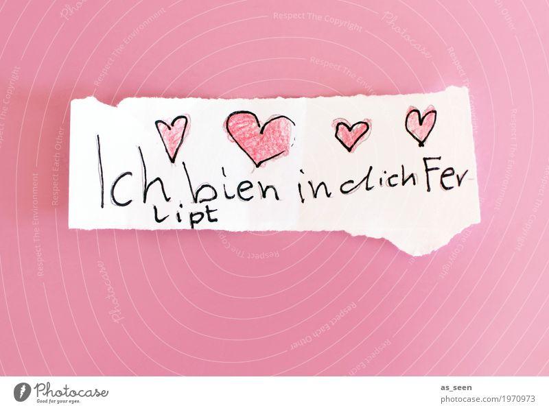 Frühlingsgefühle Schule Mädchen Papier Zettel Liebe schreiben einzigartig niedlich feminin rosa weiß Gefühle Lebensfreude Sympathie Verliebtheit Romantik Erotik