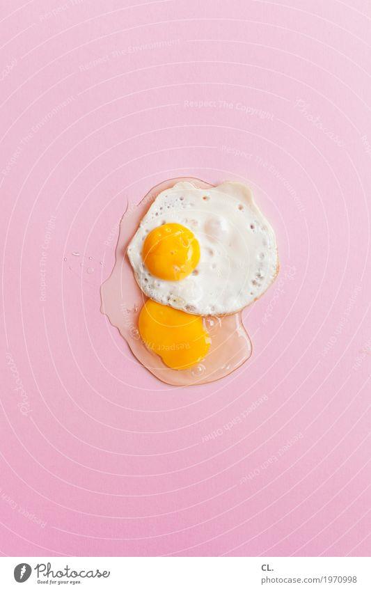 making of Lebensmittel Ei Spiegelei Ernährung Frühstück Ostern ästhetisch außergewöhnlich rund gelb rosa verschwenden Design einzigartig Farbe Misserfolg