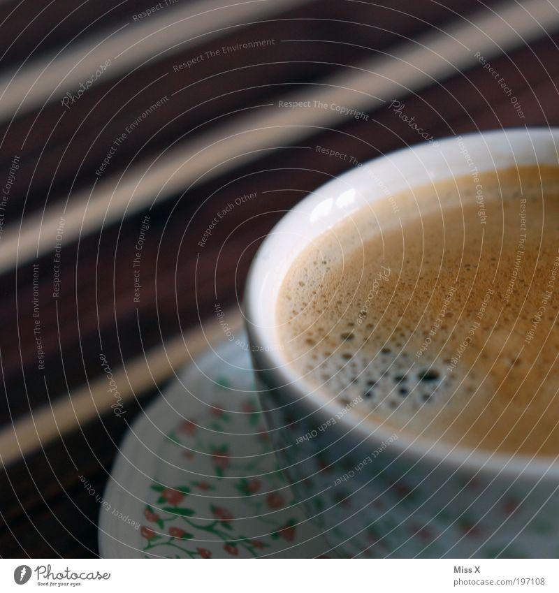 Käffchen ruhig Ernährung dunkel Erholung Getränk Kaffee süß Café lecker Duft Tasse genießen Gastronomie Schaum Brunch Espresso