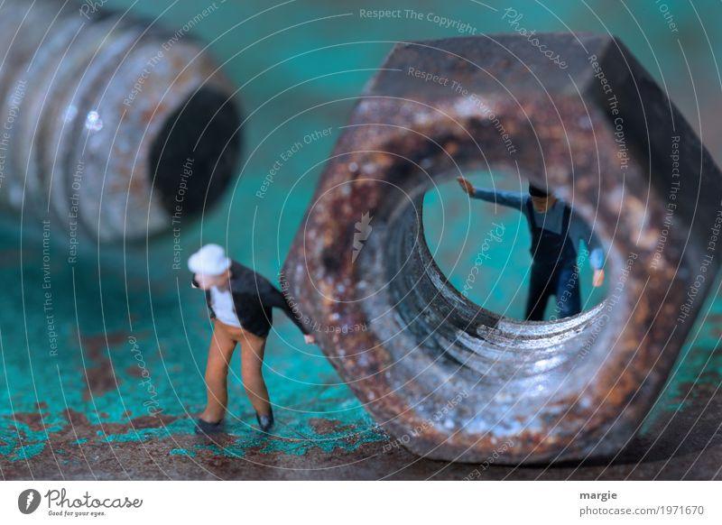 Miniwelten - Könnte passen! Arbeit & Erwerbstätigkeit Beruf Handwerker Arbeitsplatz Baustelle Fabrik Dienstleistungsgewerbe Team Technik & Technologie Mensch