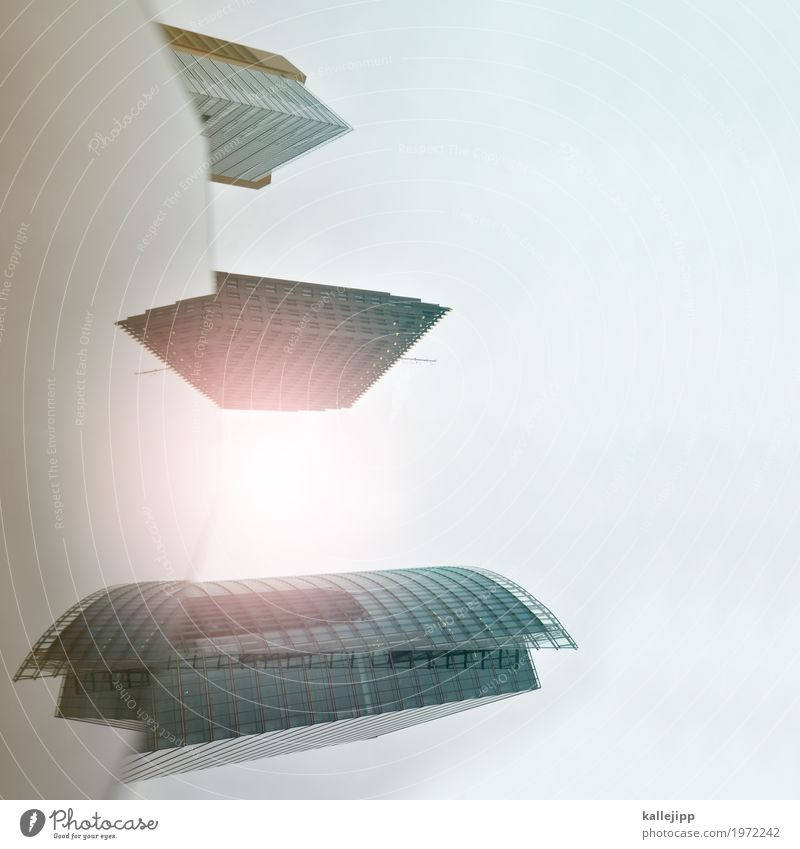 jazz Stadt Hochhaus fliegen PDA Reflexion & Spiegelung Potsdamer Platz Berlin Kunst Raumfahrzeuge Surrealismus Zukunft Farbfoto Außenaufnahme Licht Schatten