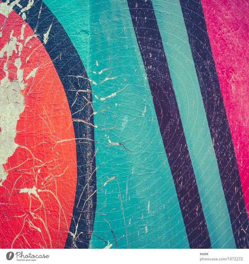 Graphic 2.8 Stil Design Dekoration & Verzierung Kunst Kunstwerk Mauer Wand Zeichen Graffiti Linie Streifen dreckig einfach frei einzigartig kaputt modern rot