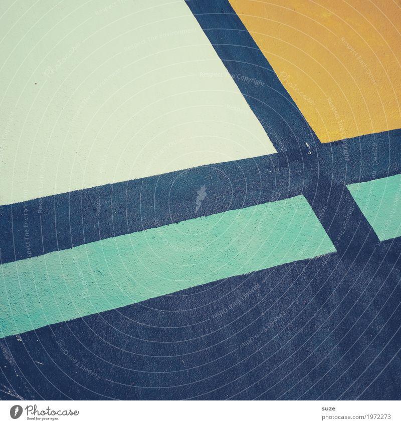 Graphic 2.9 Stil Design Dekoration & Verzierung Kunst Kunstwerk Mauer Wand Zeichen Graffiti Linie Streifen einfach frei einzigartig modern gelb schwarz türkis