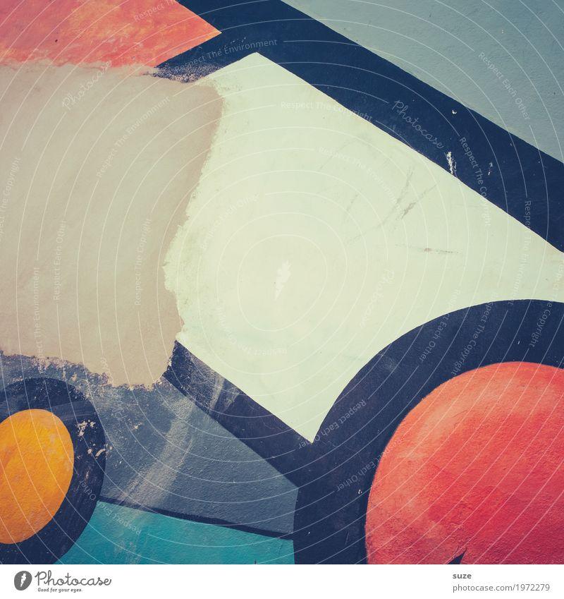 Graphic 2.7 Stil Design Dekoration & Verzierung Kunst Kunstwerk Mauer Wand Zeichen Graffiti Linie dreckig einfach frei einzigartig modern gelb grau rot