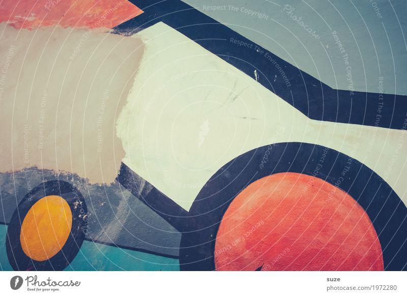 Jenseits des Mainstreams | rausgeputzt Stil Design Kunst Kunstwerk Mauer Wand Fassade Dekoration & Verzierung Zeichen Graffiti Linie dreckig einfach kaputt