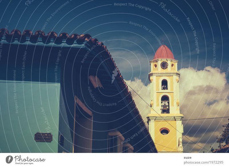 Vorzeige-Franz Himmel Ferien & Urlaub & Reisen Himmel (Jenseits) blau grün Religion & Glaube gelb Gebäude Kirche Platz historisch malerisch Sehenswürdigkeit