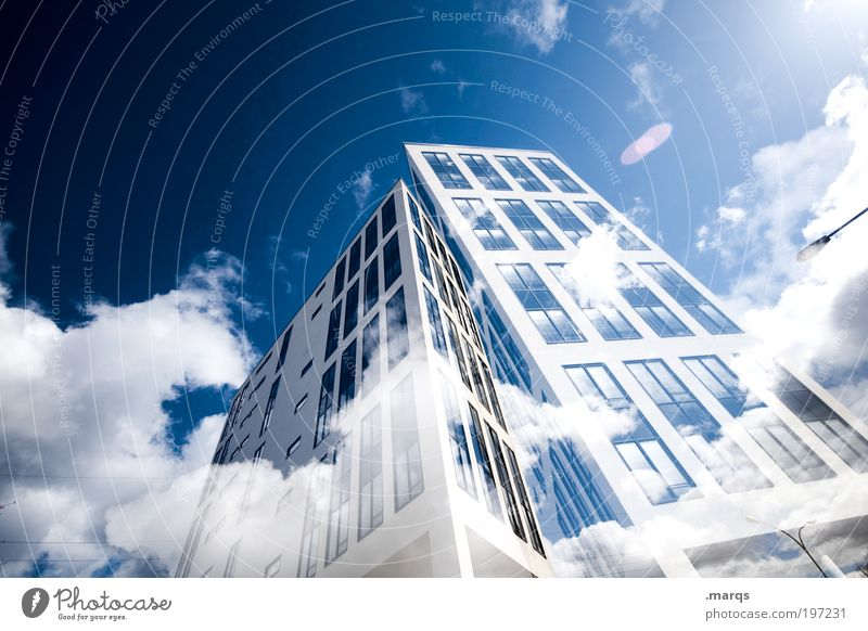 Luftschloss [800] Stadt Architektur Gebäude Stil Business Arbeit & Erwerbstätigkeit hoch groß Design außergewöhnlich Hochhaus Erfolg Lifestyle Häusliches Leben
