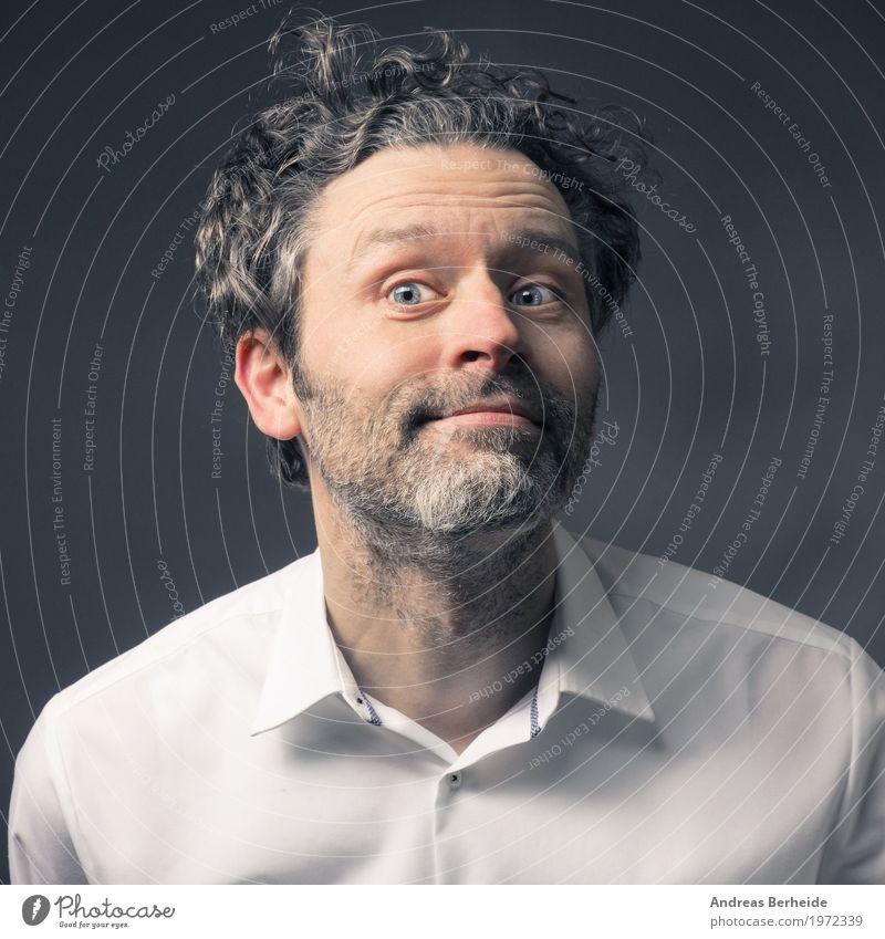Portrait Stil schön Gesicht Mensch Mann Erwachsene 1 45-60 Jahre elegant Freundlichkeit Fröhlichkeit trendy muskulös retro Freude Glück Zufriedenheit