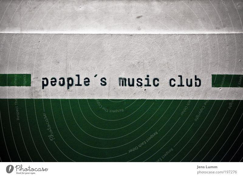 People's music club weiß grün Freude Wand Musik Tanzen Feste & Feiern dreckig Disco Club Veranstaltung Symbole & Metaphern Leben Nachtleben ausgehen Bauwerk