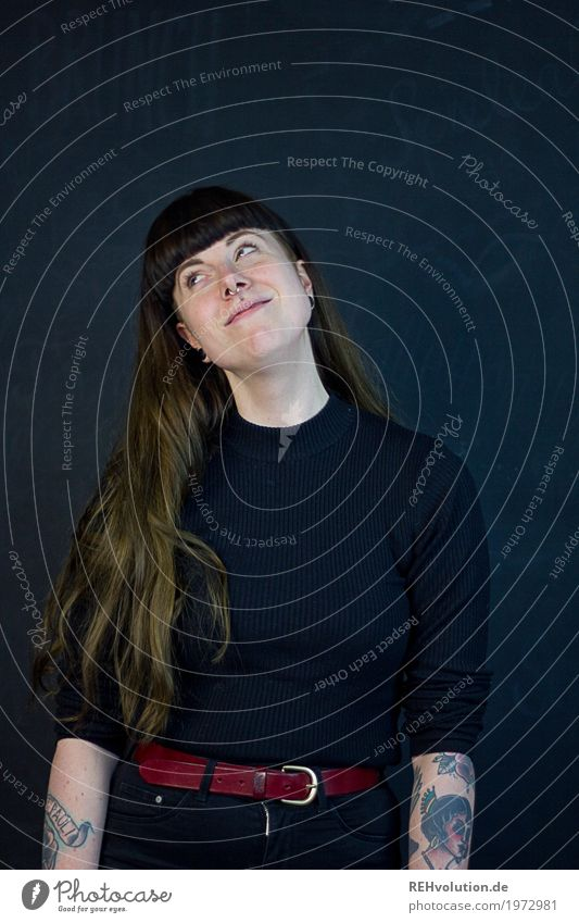 Carina | verschwärmt Mensch Frau Jugendliche Freude 18-30 Jahre Erwachsene Liebe feminin Glück außergewöhnlich Haare & Frisuren Denken träumen authentisch