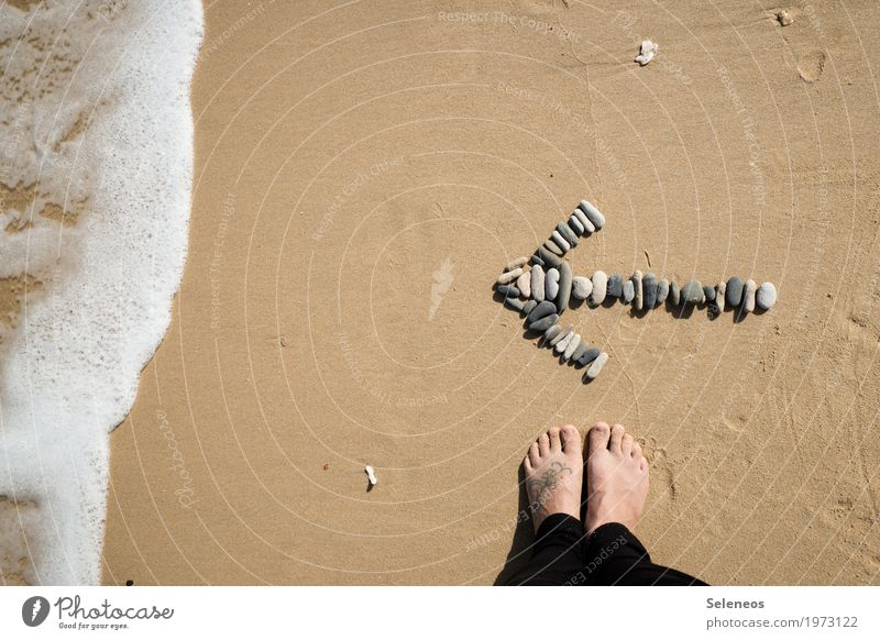 Komm, wir gehen baden Natur Ferien & Urlaub & Reisen Sommer Meer Erholung ruhig Ferne Strand Umwelt Küste Freiheit Tourismus Fuß Schwimmen & Baden Zufriedenheit