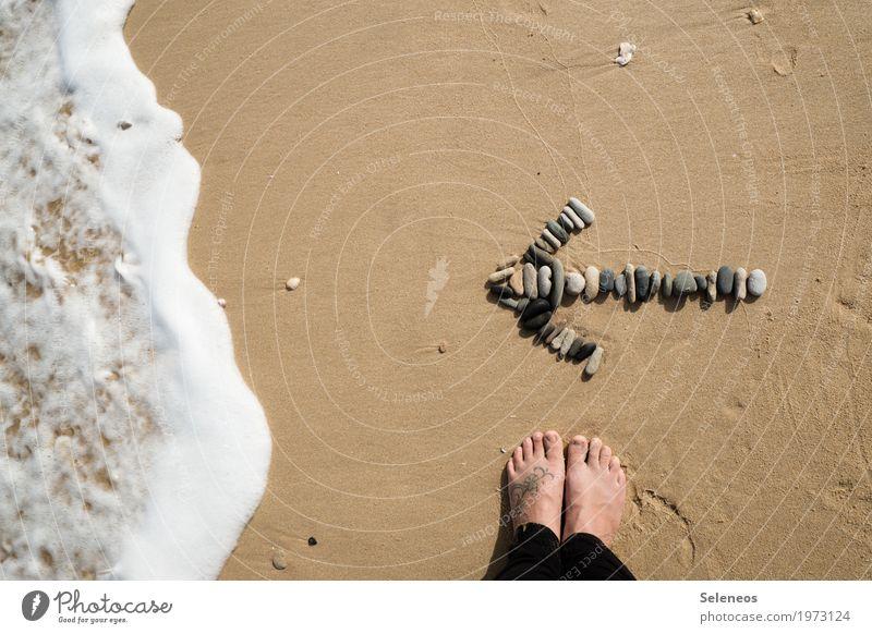 baden gehen Schwimmen & Baden Ferien & Urlaub & Reisen Tourismus Ausflug Abenteuer Ferne Freiheit Sommer Sommerurlaub Strand Meer Wellen Fuß Küste Zeichen