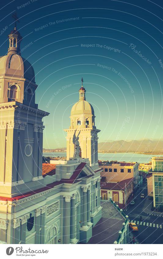 Kathedrale Nuestra Señora de la Asunción Ferien & Urlaub & Reisen Stadt Religion & Glaube Straße Küste Fassade retro Kultur Platz Stadtzentrum Städtereise Engel