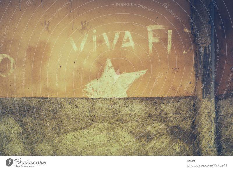 Viva *Fidel Freiheit Häusliches Leben Haus Kultur Wärme Stadtrand Fassade Graffiti Armut rebellisch trist Stolz Politik & Staat Verfall Vergangenheit