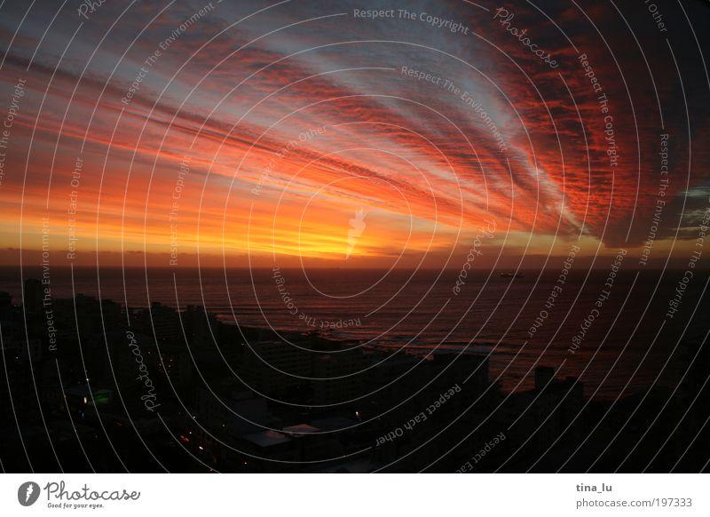 cape town sundowner Himmel Stimmung Horizont Hoffnung Afrika Nachthimmel Südafrika Sonnenaufgang Sonnenuntergang Natur Kapstadt