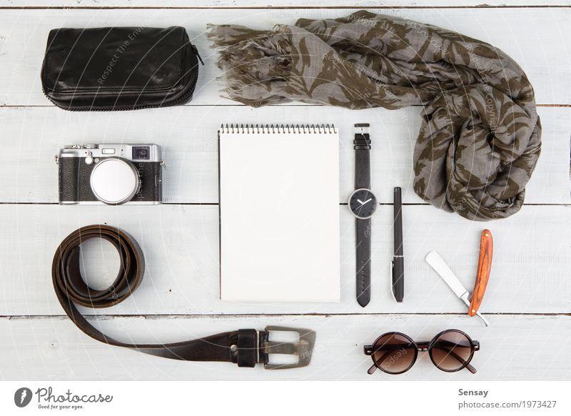 Ferien & Urlaub & Reisen alt weiß schwarz Stil Holz Business Mode Tourismus Ausflug modern retro Aussicht Tisch Fotografie beobachten