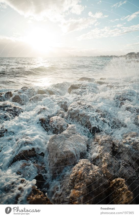 saus und braus Natur Wasser schön Ferien & Urlaub & Reisen Sommer Meer Strand Wolken Umwelt kalt Küste Luft Horizont Wetter Wellen Wind