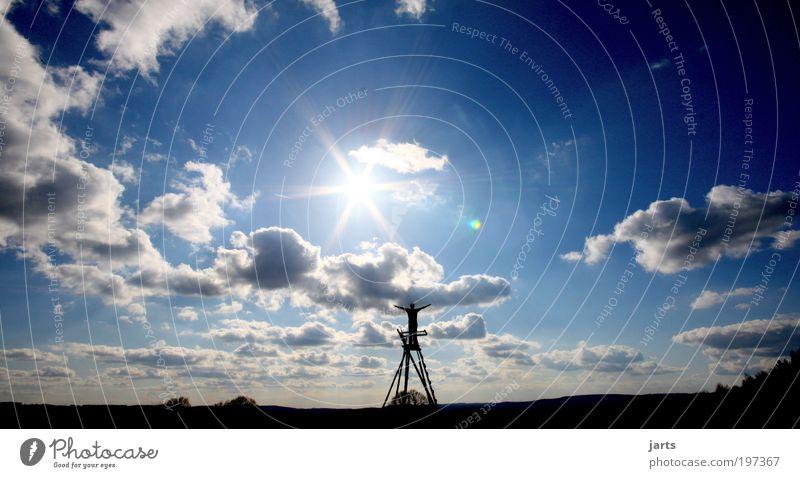große freiheit Mensch Natur Himmel Sonne ruhig Wolken Freiheit Zufriedenheit Hoffnung Sicherheit Frieden Schutz Vertrauen fantastisch Unendlichkeit