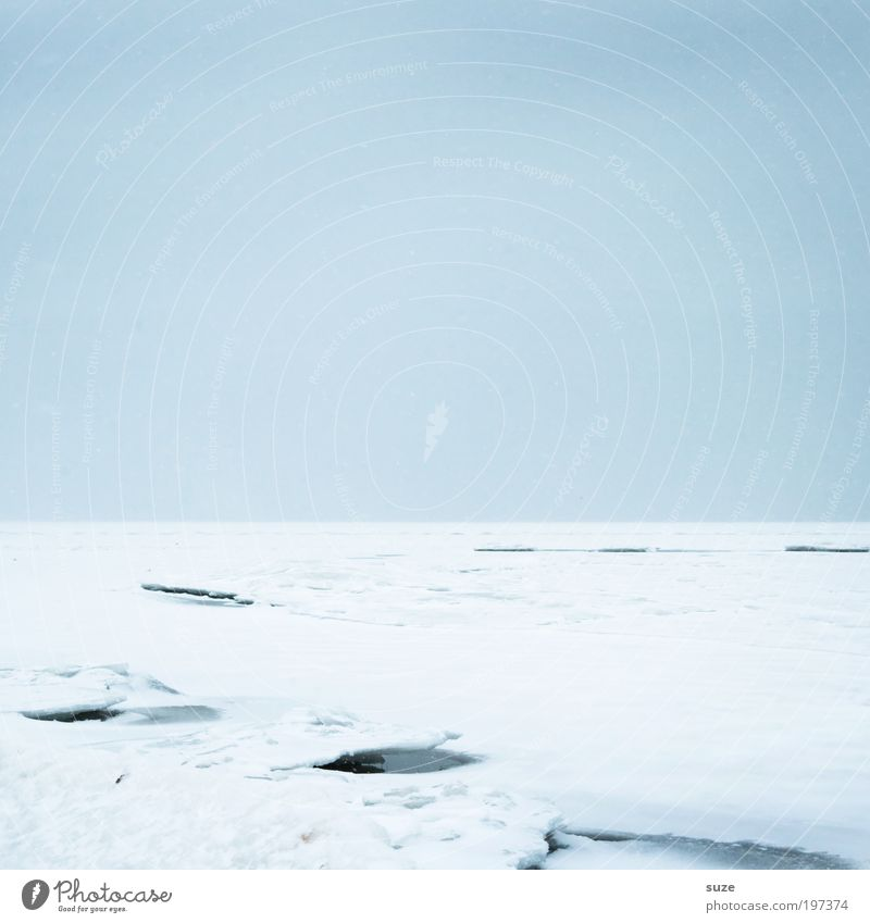 Eisdecke Himmel Natur blau weiß Einsamkeit Winter Landschaft Ferne Umwelt kalt Schnee Küste Horizont Eis außergewöhnlich Klima