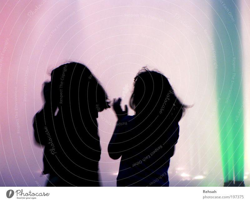 Herzensfreude Mensch Kind Wasser blau grün Sommer Freude schwarz Leben Bewegung lachen Musik Freundschaft Kindheit Tanzen glänzend