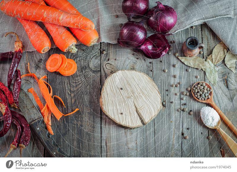 rot Essen natürlich Holz Gesundheitswesen Lebensmittel grau oben orange frisch Tisch Kräuter & Gewürze Küche Gemüse Frühstück heimwärts