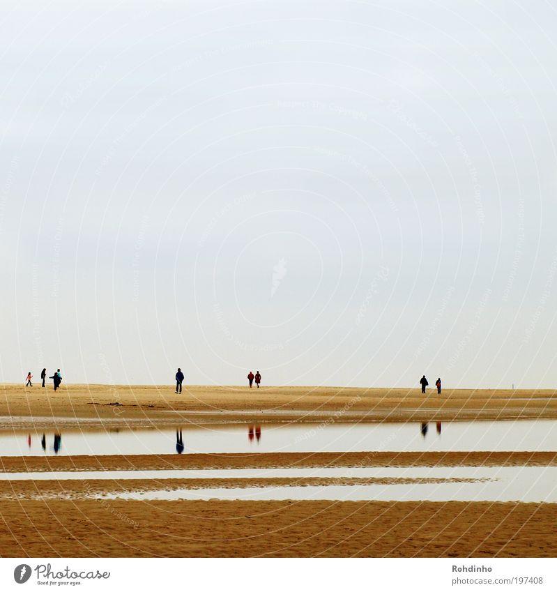 Strandweite Mensch Natur Wasser Ferien & Urlaub & Reisen Meer Freude ruhig Ferne Erholung Landschaft Freiheit Sand Glück Küste Paar