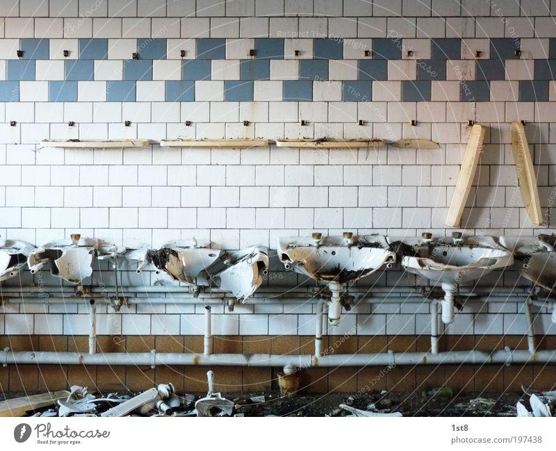 desolator spezial I alt weiß Haus Gebäude Architektur Armut verrückt Industrie Ordnung Bad Küche Fabrik kaputt Baustelle Sauberkeit Fliesen u. Kacheln