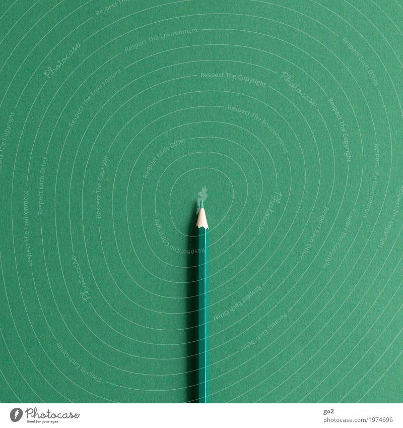 Grün Farbe grün Kunst Schule Design Freizeit & Hobby Büro ästhetisch Kreativität Idee Papier einfach Studium schreiben rein zeichnen