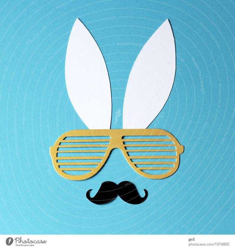 Machohase Basteln Ostern Frühling Oberlippenbart Tier Tiergesicht Hase & Kaninchen Ohr 1 Dekoration & Verzierung Brille Papier Zeichen ästhetisch Fröhlichkeit