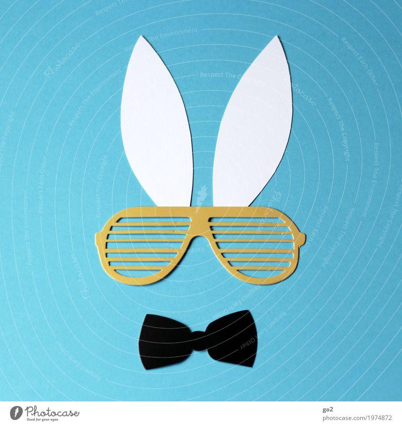 Hugh Basteln Ostern Fliege Sonnenbrille Tiergesicht Hase & Kaninchen Ohr Papier ästhetisch einfach lustig Klischee Coolness Kreativität Lebensfreude skurril