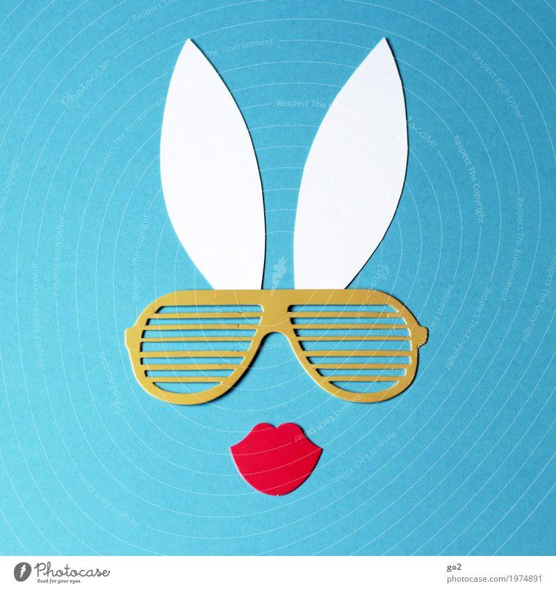 Bunny blau schön Erotik lustig feminin Dekoration & Verzierung ästhetisch Kreativität Fröhlichkeit Sex einzigartig Idee einfach Papier Ostern