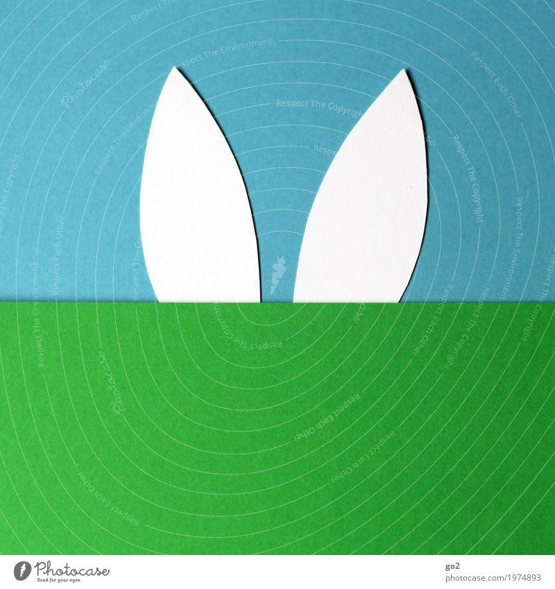 Ostern Basteln Himmel Frühling Wiese Tier Hase & Kaninchen Ohr 1 Dekoration & Verzierung Papier Zeichen ästhetisch einfach Fröhlichkeit lustig Neugier niedlich