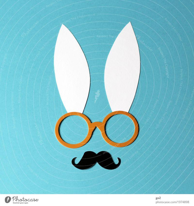 Professor Hase Freizeit & Hobby Basteln Ostern Brille Oberlippenbart Tiergesicht Hase & Kaninchen Ohr Papier Dekoration & Verzierung außergewöhnlich einzigartig