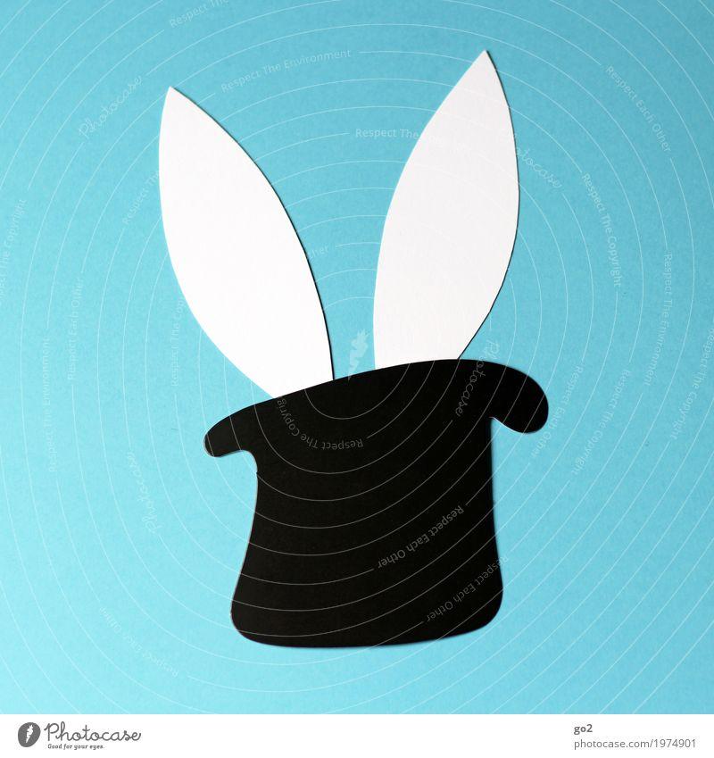 Osterüberraschung Basteln Ostern Hut Zylinder Tier Hase & Kaninchen Ohr 1 Dekoration & Verzierung Papier Zeichen ästhetisch einfach Fröhlichkeit lustig Neugier