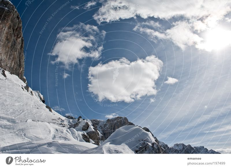 alpen Ferien & Urlaub & Reisen Ausflug Freiheit Expedition Winter Schnee Winterurlaub Berge u. Gebirge Skier Umwelt Natur Landschaft Wolken Sonne Wetter Eis