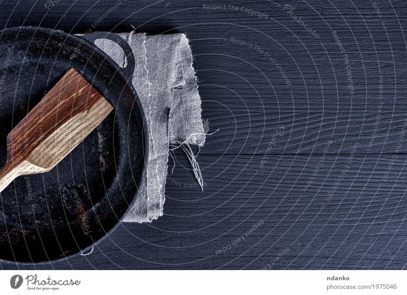 alt schwarz Speise Holz braun oben Metall Tisch Sauberkeit Küche Restaurant Geschirr Stahl Top Werkzeug Haushalt