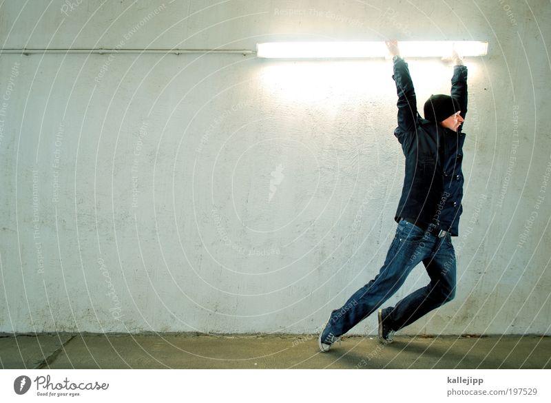 highlander Mann Erwachsene Beleuchtung maskulin Energie ästhetisch Politische Bewegungen Elektrizität Kabel Jeanshose Fitness Jacke Mütze Beruf Krieg Waffe