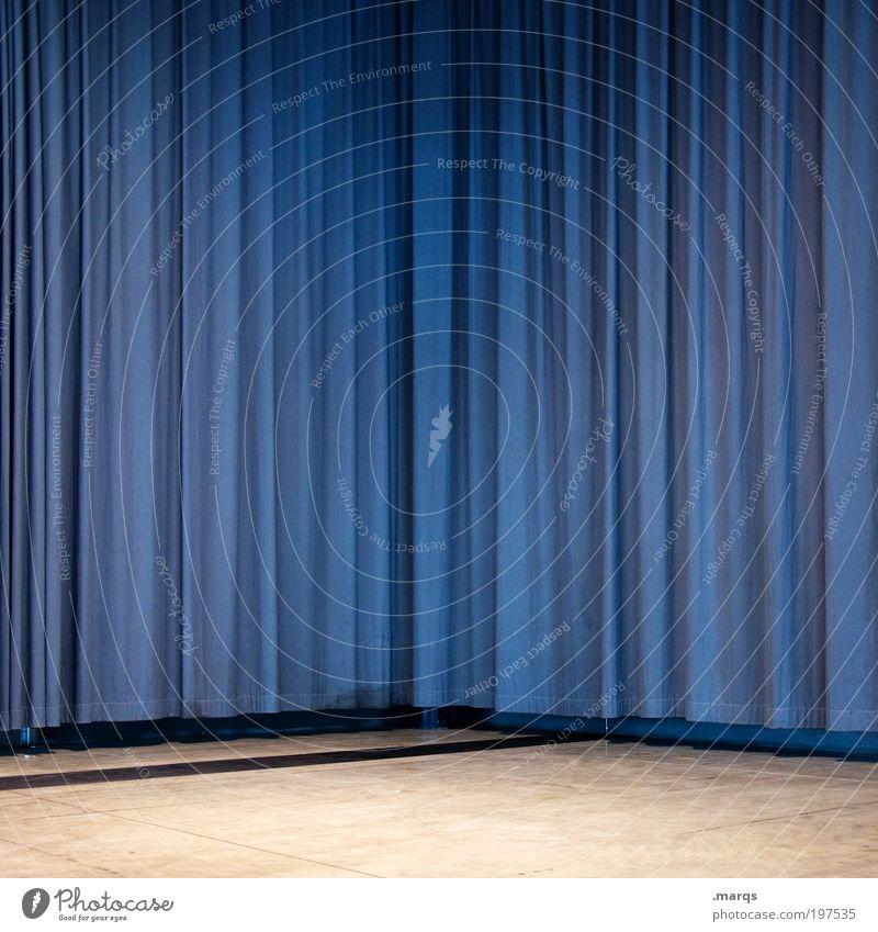 Eckvorhang Häusliches Leben einrichten Innenarchitektur Dekoration & Verzierung Bühne hängen einfach blau geheimnisvoll Überraschung Show Farbfoto Innenaufnahme