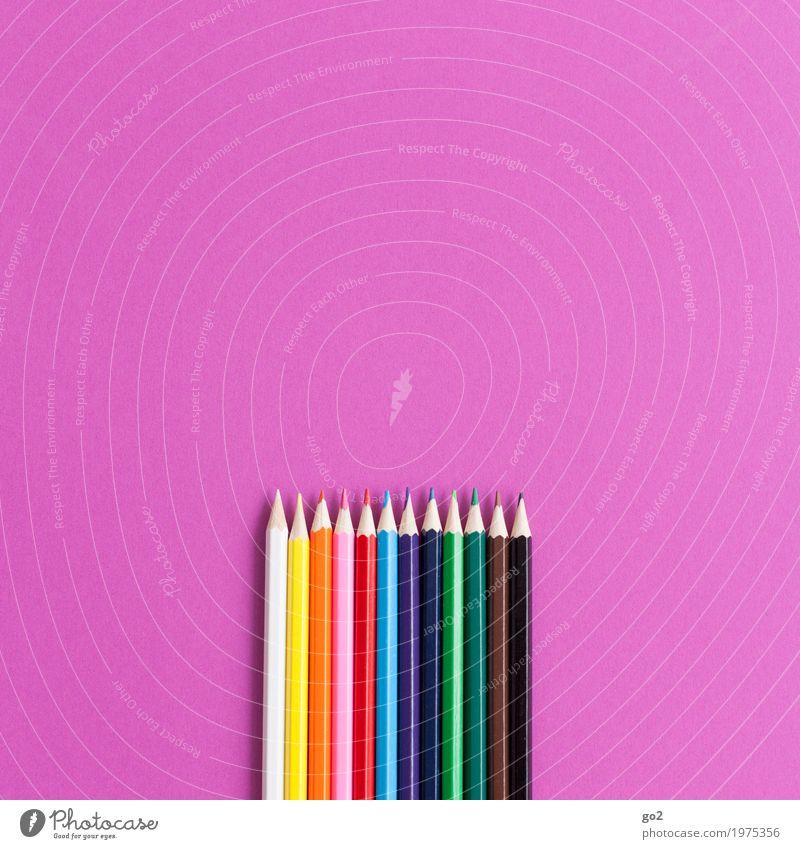 Buntstifte Freizeit & Hobby Kindergarten Schule Büroarbeit Arbeitsplatz Werbebranche Kunst Künstler Maler Printmedien Schreibwaren Papier Zettel Schreibstift