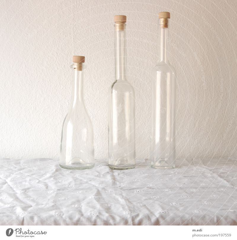 flaschen Glas Glas stehen fest Flasche Verpackung Flaschenhals