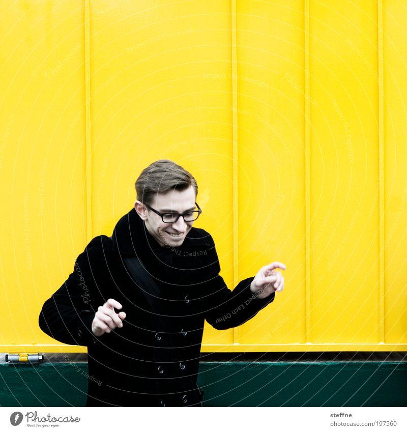 Finanzberater, seriös Mensch Jugendliche gelb lustig Erwachsene maskulin Fröhlichkeit Coolness Brille authentisch einzigartig Lebensfreude Mann Porträt Spaßvogel Junger Mann