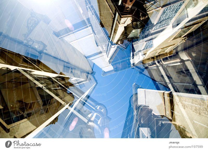 Bevölkerungsdichte Haus Stadtzentrum überbevölkert Gebäude Architektur Fassade bauen Häusliches Leben außergewöhnlich historisch hoch Zukunftsangst bizarr
