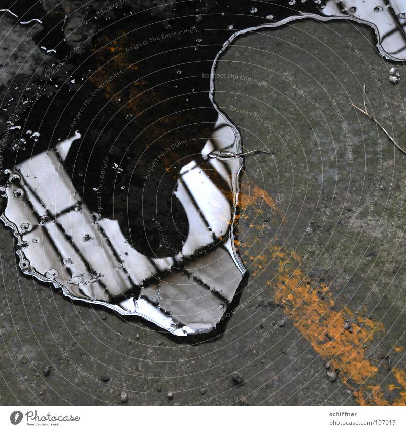[LUsertreffen 04 10] Wer hat Angst vorm schwarzen Mann? Mann schwarz Einsamkeit dunkel Traurigkeit Angst glänzend Erwachsene gefährlich stehen Flüssigkeit Hut durcheinander Pfütze Spiegelbild Entsetzen