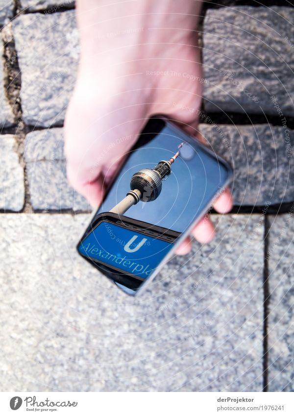 Berliner Sehenswürdigkeiten mit dem Smartphone gesehen 6 Ferien & Urlaub & Reisen Tourismus Ausflug Freiheit Sightseeing Städtereise Hauptstadt Stadtzentrum