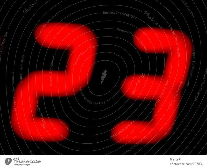 Digital Digitaluhr Uhr 23 rot Elektrisches Gerät Technik & Technologie Digitalfotografie 23 Uhr Leuchtdiode Anzeige