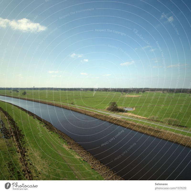 Irgendwer hat den Stöpsel gezogen Umwelt Natur Landschaft Pflanze Erde Luft Wasser Himmel Wolken Frühling Klima Klimawandel Wetter Schönes Wetter Gras Sträucher
