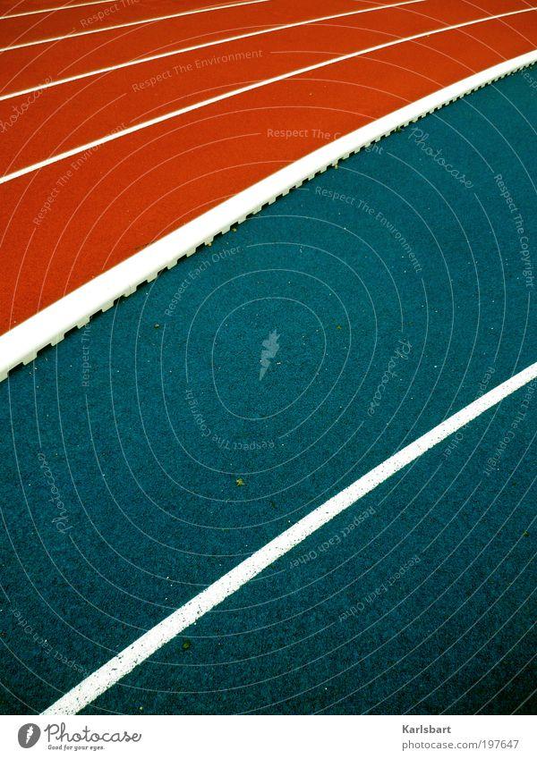 jump & run. Lifestyle Design Leben Freizeit & Hobby Sport Leichtathletik Joggen Laufsport Marathon Sportstätten Sportveranstaltung Platz Wege & Pfade Linie blau