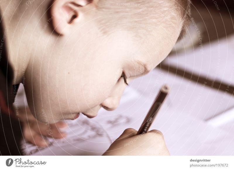 Leichtsinn Freizeit & Hobby Spielen Basteln Schreibtisch Junge Hand Kunst Künstler Maler Gemälde malen zeichnen Schreibstift Farbstift Bleistift einfach frei