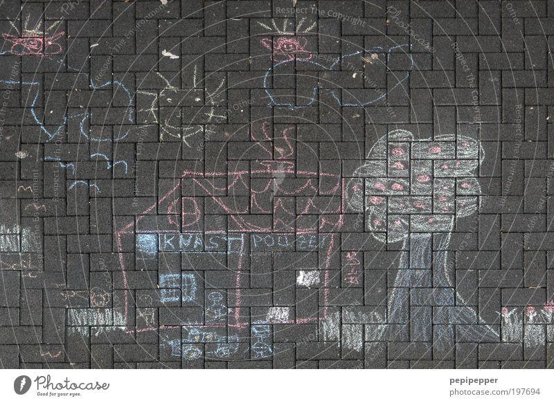 naheliegend Spielen Kinderspiel Häusliches Leben Wohnung Haus Kunst Maler Gemälde Stein Polizei Justizvollzugsanstalt Gefängniszelle Malen Farbfoto